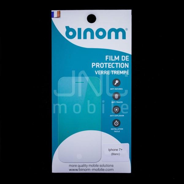 Film protection verre trempé 0,33mm Couverture Totale - iPhone 7 Plus Blanc