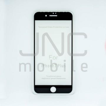 Film protection verre trempé 0,33mm  Couverture Totale- iPhone 7 Plus  Noir