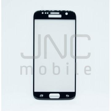 Film protection verre trempé 0.33 mm, Samsung S7 Noir, Couverture totale