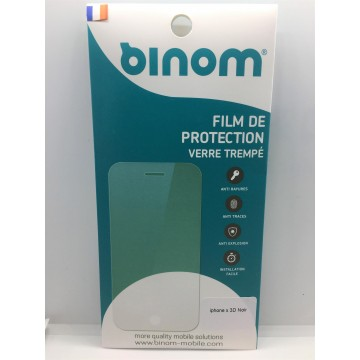 Film protection verre trempé 0,33mm Couverture totale iPhone X Noir