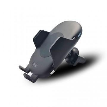 Support voiture auto détection infra-rouge et chargeur rapide QI - Grille air