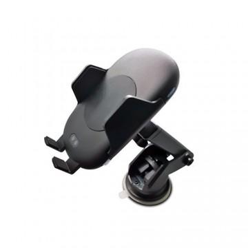Support voiture auto détection infra-rouge et chargeur rapide QI - Ventouse