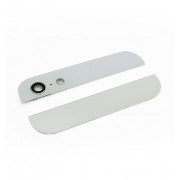 Vitre arrière Haut et Bas iPhone 5S - Blanc
