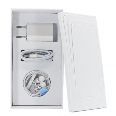 Boîte Universelle iPhone-Câble-Chargeur-Ecouteur ligthning-Extracteur SIM- Blanc