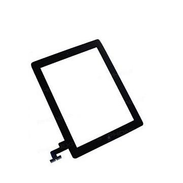 Écran tactile iPad Mini 2 avec bouton home et adhésif - Noir