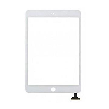 Écran tactile iPad Mini 2 avec bouton home et adhésif - Blanc
