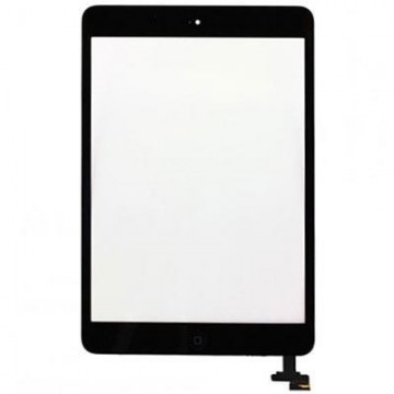 Écran tactile iPad Mini avec bouton home et adhésif - Noir