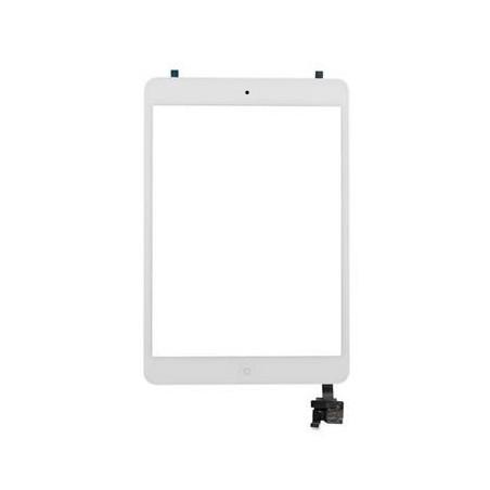 Écran tactile iPad Mini avec bouton home et adhésif - Blanc