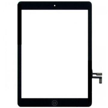 Écran tactile iPad Air avec bouton home et adhésif - Noir