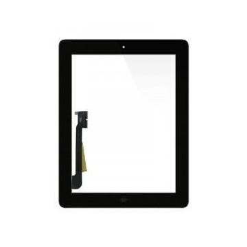 Écran tactile iPad 4 avec bouton home et adhésif - Noir