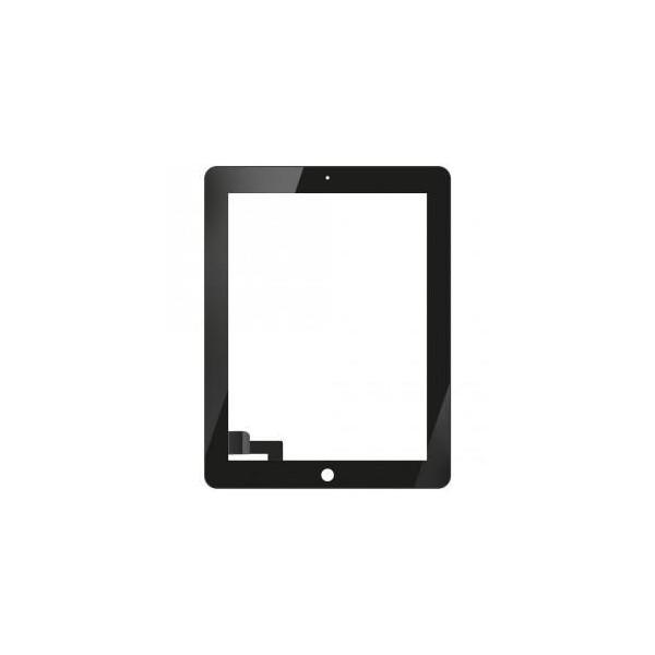 Écran tactile iPad 2 avec bouton home et adhésif - Noir