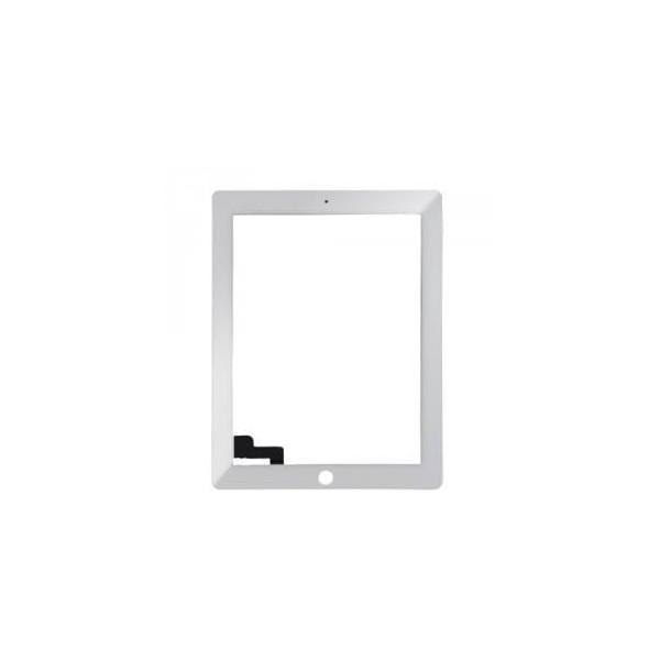 Écran tactile iPad 2 avec bouton home et adhésif - Blanc