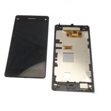 Écran complet (Tactile + LCD + Cadre) Sony Z1  Compact - Noir