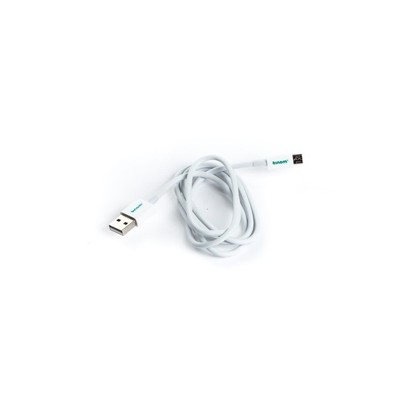 Câble 1m USB Binom micro USB - Blanc