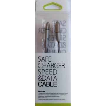 Câble 1m USB 2en1 iPhone 5 et Android - Noir