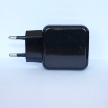 Chargeur USB 5V3A 2 sorties - Noir