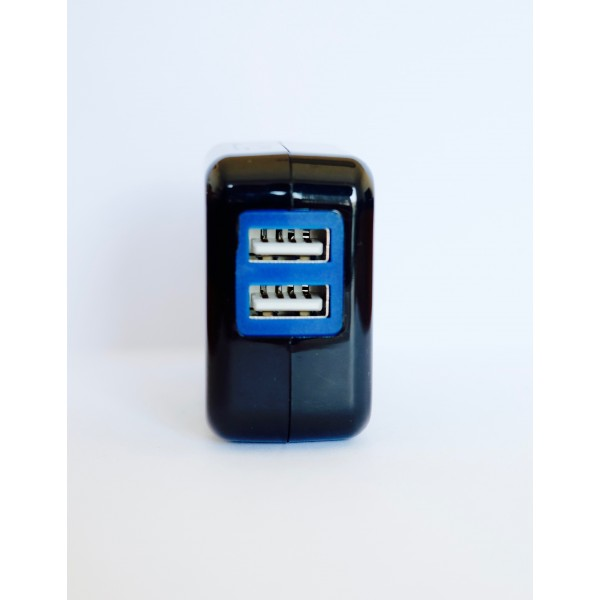 Chargeur USB 5V3A 2 sorties - Noir