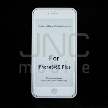 Film protection verre trempé 0,33mm Couverture Totale - iPhone  6 Plus Blanc